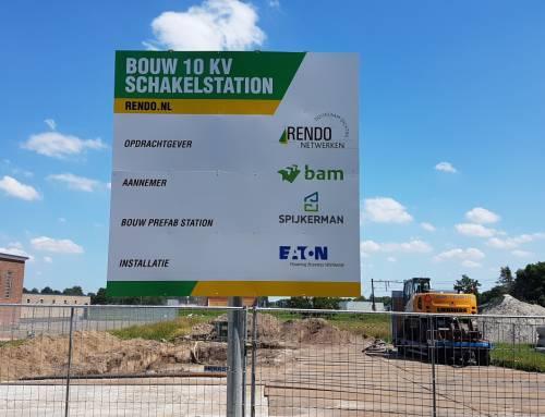 Nieuwbouw 10 kilovolt schakelstationToldijk