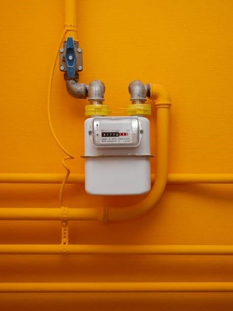 Slimme meter oranje staand